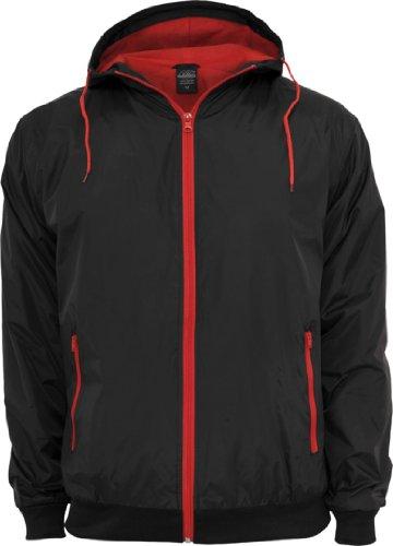 chaqueta Urban viento Hombre Classics de Blk Runner Red nbsp;Contrast TB147 Xw6rXIxqf
