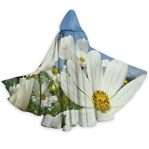 Sun Ra Halloween Costume (White Daisy Flower Sunshine Unisex Halloween Costume Cape Hooded Cloak for Men)