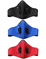 Domybest Pm2.5 Filter Two Exhale Valves Dustproof Ind Proof Bike Cycling Face Mask