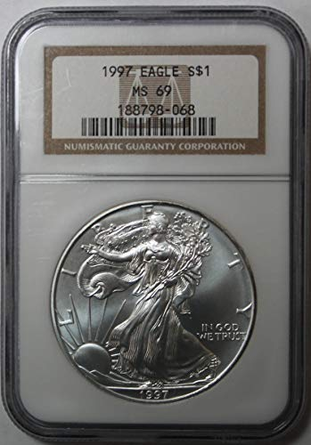1997 American Silver Eagle $1 MS69 NGC