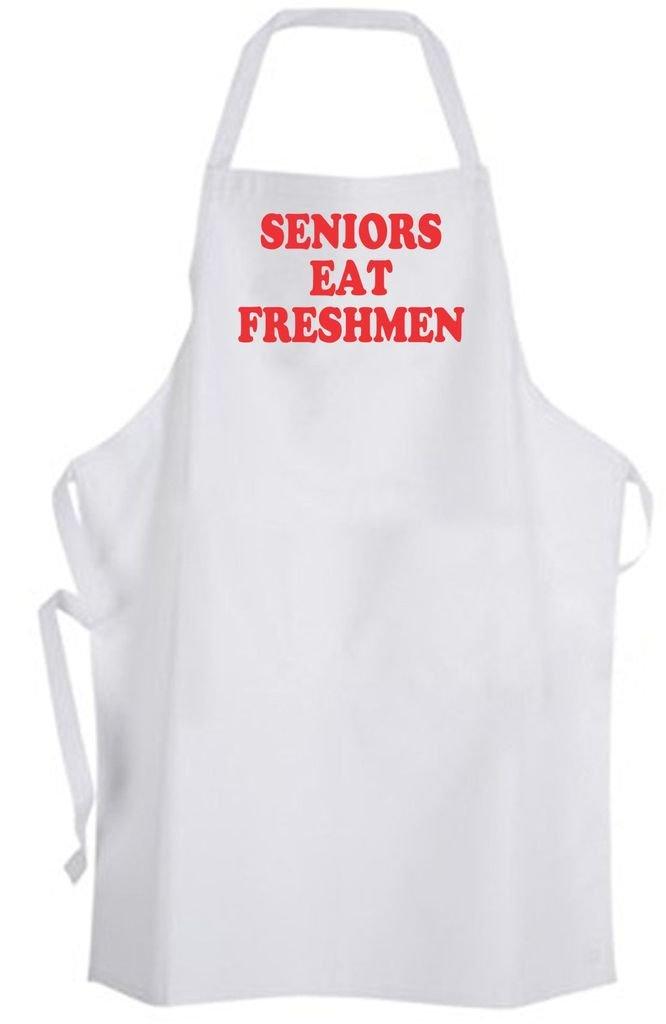 Seniors Eat Freshmen Adult Size Apron - High School College Student Class Humor
