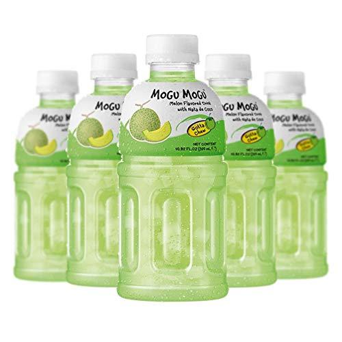Mogu Mogu Melon Drink with NATA de Coco (Gotta Chew) 320ml (6 Bottles)