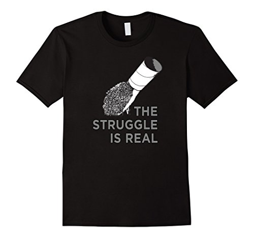 Men's The Struggle Is Real Funny Hedgehog Graphic T-Shirt  Small (Mens Hedgehog)
