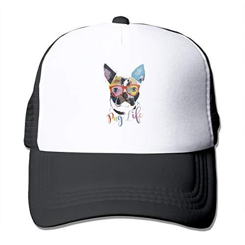 I Enjoy The Pug Life Classic Trucker Hat Adjustable Baseball Cap for Men and Women Black