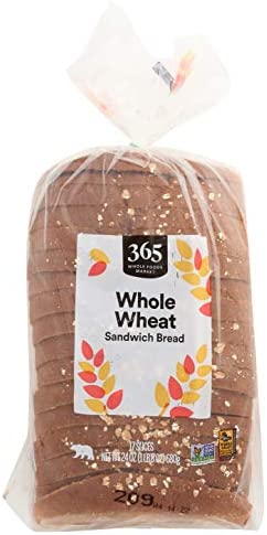 365 by Whole Foods Market, Sandwich Bread, Whole Wheat (17 Slices), 24 Ounce