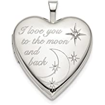 ICE CARATS 925 Sterling Silver 20mm Love To The Moon Diamond Heart Photo Pendant Charm Locket Chain Necklace That Holds Pictures Fine Jewelry Ideal Gifts For Women Gift Set From Heart