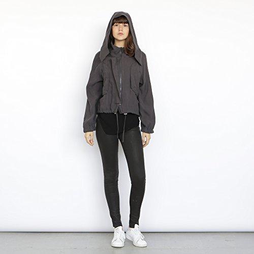 Monti Coat , Grey winter coat, Cropped jacket, Short hoodie. by Naftul
