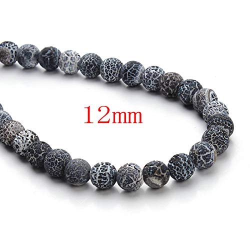 Weathering Solution (SOLUTION Natural Weathering Black Onyx Stone 8/10/12mm Round Loose Spacer Beads for Necklace Bracelet Jewelry Making 40cm/Strand F3160)