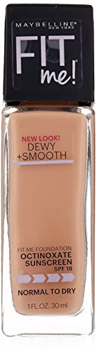 Maybelline Fit Me Dewy + Smooth Foundation, Classic Ivory, 2 Count (Packaging May Vary)