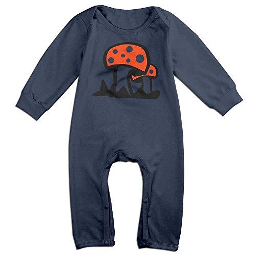 Fly Agaric Mushroom Infant Romper Jumpsuit Bodysuit Navy 6 M