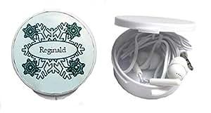 Auriculares in-ear en una caja personalizada con Reginald (nombre de pila/apellido/apodo)