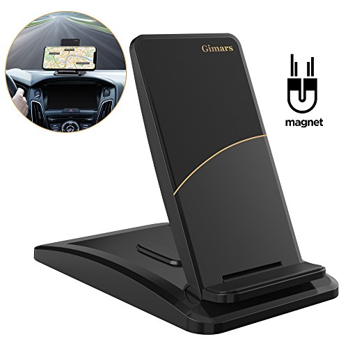 Car Phone Mount, Gimars Hands Free Upgrade Bigger Nonslip Sticky Dashboard Cell Phone Holder Mount Magnet for iPhone X 8 7 6s Plus Samsung Note Huawei Google LG HTC GPS and More