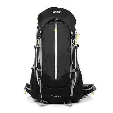 ZHUDJ 65 L Rucksack Klettern Freizeit Sport Camping & Wandern Wasserdicht Tragbar Atmungsaktiv Multifunktionale, Schwarz