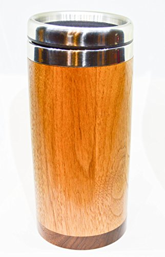 Segmented Walnut and Stainless Steel Travel (Segmented Cup)