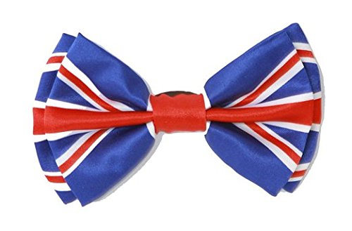 - Men's Unisex Wedding Party Tuxedo UK Flag United Kingdom Flag England Flag British Flag Red,White, and Blue Dress Bow Tie Bowtie! Brand New in Factory Box!