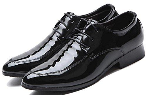 Chaussures black Chaussures Men's Chaussures de Business Cuir XDGG décontractées Toe Pointe Big promotion mariage qAZIIF