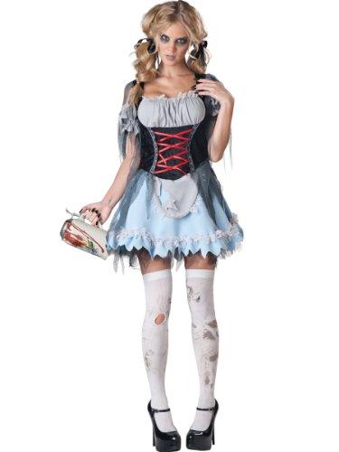 Zombie Beer Maiden Costumes (InCharacter Costumes Women's Zombie Beer Maiden Costume, Grey/Black, Medium)