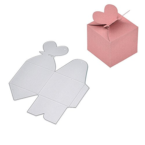 Fellibay Metal Cutting Dies Stencil Template Mould Cutting Dies Embossing Dies for DIY Gift Candy Box Christmas Bags (Heart)
