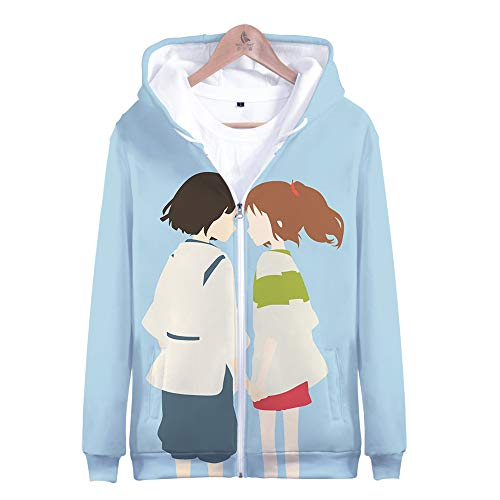 My Sky Unisex Japanese Anime Hoodie 3D Print Pullover Sweatshirt Jacket Cospaly Costume (Blue (Zip-up), 3X-Large)]()