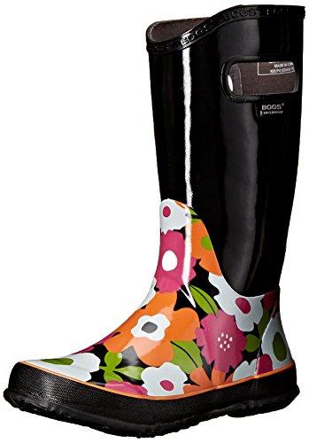 Bogs Spring Flowers Rain Boot (Little Kid/Big Kid) - Blac...