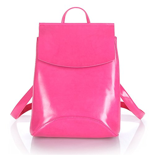 Fashion Women Backpacks Red Girls Shoulder Teenage School Leather Bagpack Bag Backpack For Female Rose prdtqpO