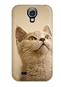 Best Galaxy S4 Case Cover Cat Looking Up Case - Eco-friendly Packaging 3638398K69554236