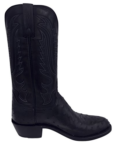 Lucchese Bootmaker Men's Luke Western Boot, Black, 8 D US