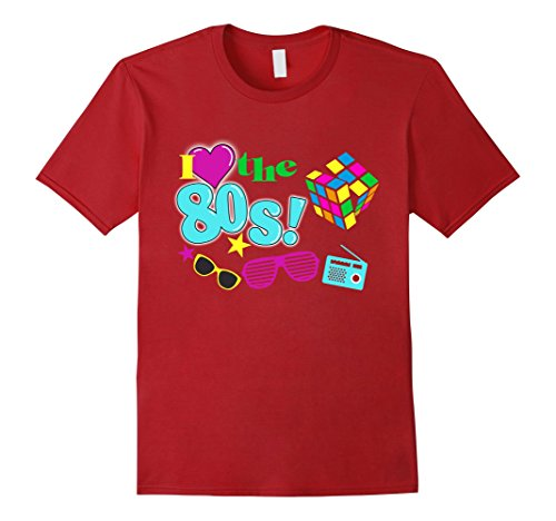 Mens I Love The 80S Eighties T Shirt 3Xl Cranberry