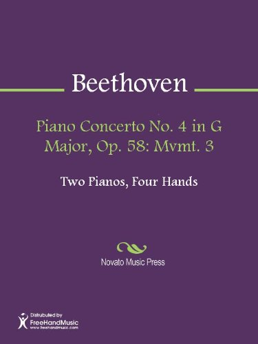 Piano Concerto No. 4 in G Major, Op. 58: Mvmt. 3 Sheet Music