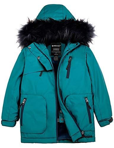 Wantdo Girls' Waterproof Ski Jacket Windproof Fleece Winter Coat Parka