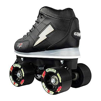 Crazy Skates Flash Roller Skates for Boys - Light Up Skates with Ultra Bright Lights and Flashing Lightning Bolt - Black Patines : Sports & Outdoors