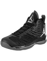 NIKE Mens Jordan Super.Fly 5 Black Mesh Trainers 10.5 US