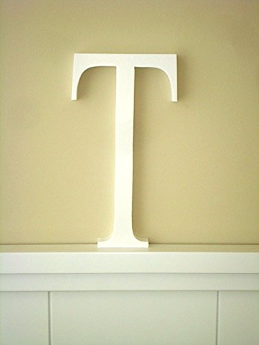 Letra T Letras decoracin Grandes Letras lacadas blancas Altura
