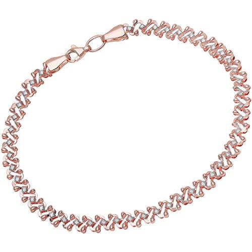 Citerna - BT1359 - Bracelet Femme - Or Bicolore 375/1000 (9 Cts) 2.8 Gr - Verre