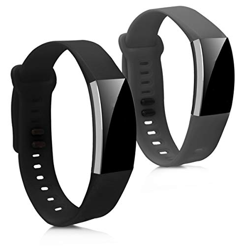 kwmobile Silicone Watch Strap for Huawei Band 2 / Band 2 Pro - 2X Fitness Tracker Replacement Band Wristband Bracelet Set with Clasp