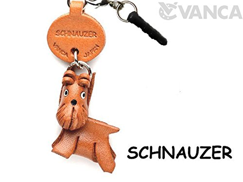 Schnauzer Leather Dog Earphone Jack Accessory / Dust Plug / Ear Cap / Ear Jack *VANCA* Made in Japan #47754 ()