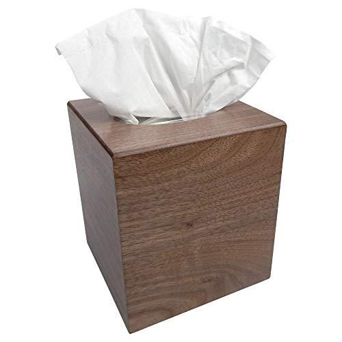 Tomokazu Noriega Walnut Wood Boutique Facial Tissue Box Cover/Wooden Holder/Paper Dispenser