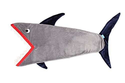 [ENFY Shark Tail Blanket - Super Soft and Warm Minky Fabric Funny Shark Sleeping Bag - Grey and Dark Blue color - Perfect for Kids ages] (Cute Baby Boy Costumes Ideas)
