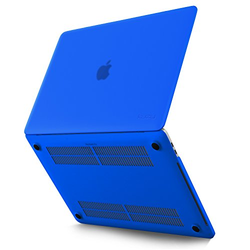 MacBook Pro 13 inch Case 2018 2017 2016 Release A1989 A1706 A1708, Kuzy Plastic Hard Shell Cover for Newest 13 inch MacBook Pro Case with Touch Bar Soft Touch - Blue