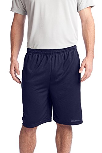Sport-Tek Men's PosiCharge Tough Mesh Pocket Short XL True Navy