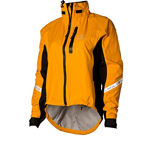 - Showers Pass Women's Waterproof Breathable Elite 2.1 Cycling Jacket (Goldenrod - Medium)