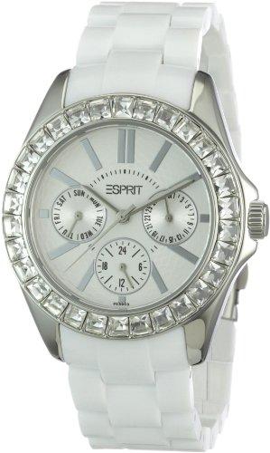 ESPRIT Women's ES105172006 Dolce Vita Plastic White Analog Watch