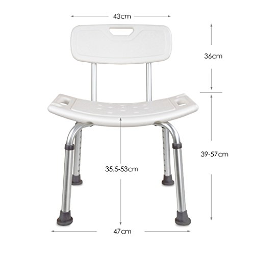 YXYH Round Shower Stool Height Adjustable Ergonomic Adjustable Medical Bath Stool White Seat Pregnant Woman/Old Man/Wait Family Design