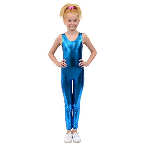 Barbie Costume For Kids (Stretch is Comfort Kid's Metallic Tank Barbie Unitard SC)