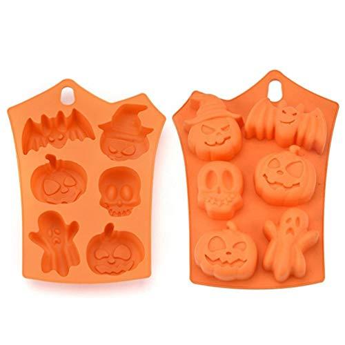 Creative Happy Halloween Silicone Pumpkin Cake Silicone Mold Kitchen Bake Tools