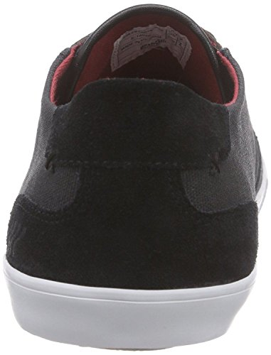 Boxfresh Stern Nero Rosso Waxed Canvas Uomo Sneakers Scarpe Envío Gratis m73qnm9