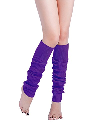 Long Leg Warmer, V28 Women Men 80s Eighty's Ribbed Knit Dance Sports Leg Warmers (80's Fitness Costumes Men)