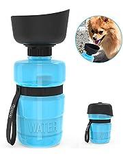 DADYPET Bottiglia d'Acqua per Cani, 520ml Distributori d'Acqua Bottiglia d'Acqua per Viaggi,Bottiglia per Gatti Portatile da Viaggio,Borraccia Pieghevole per Cane