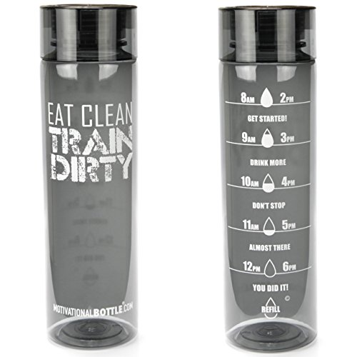 Graphite Eat Clean Motivational Water Bottle®