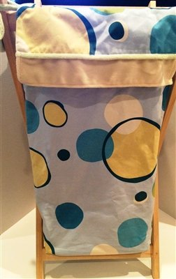 Minky Bubbles Hamper Color: Blue - Brandee Danielle Hamper Shopping Results